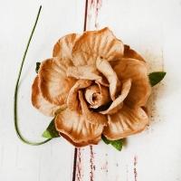 Роза Светло-коричневая (4,5см) 1шт