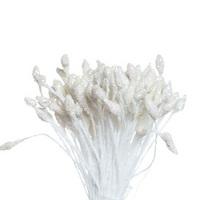 Тычинки двухсторонние с глитером Белые, 144 шт.